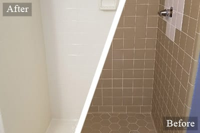 Shower Tile Resurfacing in Holly Springs NC