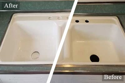 Sink Reglazing in Holly Springs NC